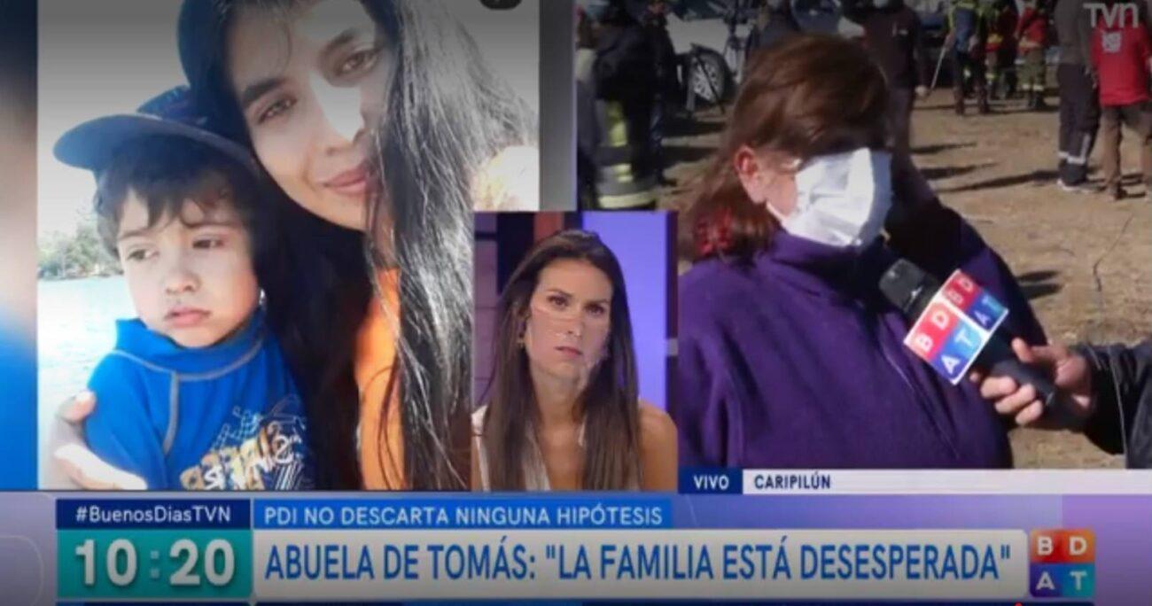El programa estuvo cubierto el caso de Tomás, el menor de tres años que desapareció en Arauco. (TVN)