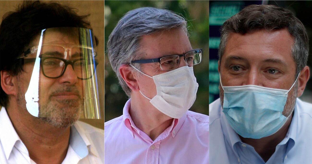 Los alcaldes de Recoleta y Las Condes lideran ampliamente las preferencias. Fotos: Agencia Uno.