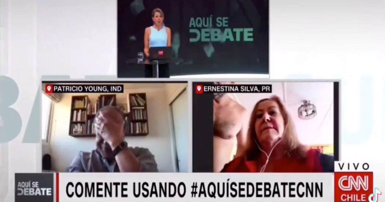 La situación provocó la indignación del candidato independiente Patricio Young. (Captura de pantalla).