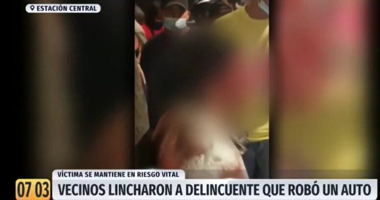 Vecinos lincharon y desnudaron a joven de 15 años tras violento robo en Estación Central