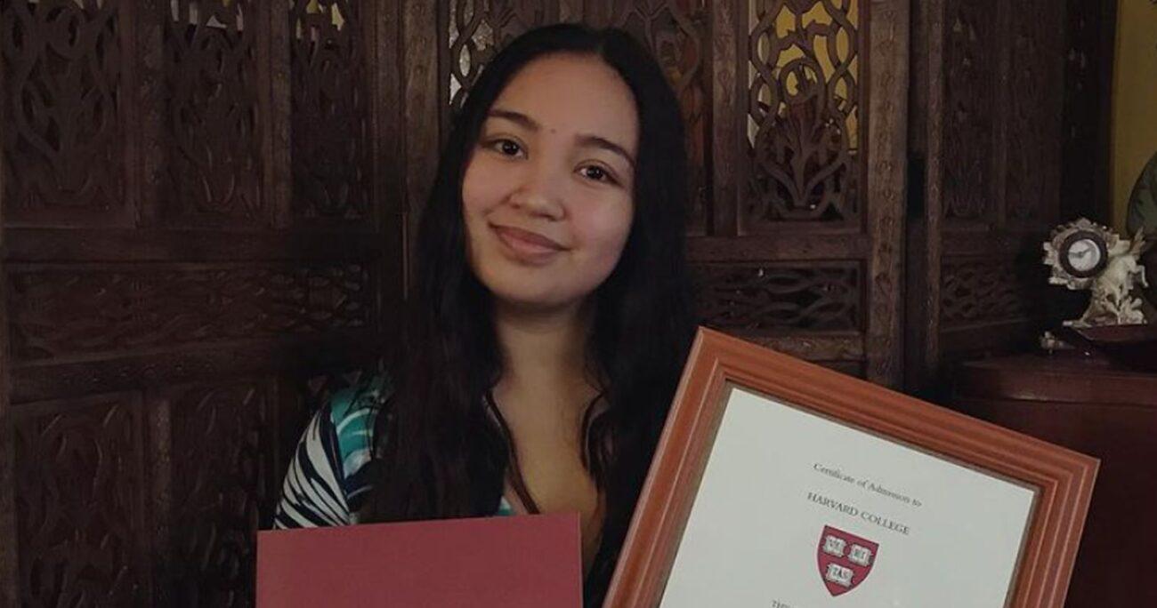 La estudiante mostrando su logro en redes sociales. (Instagram/vandiedumaboc)