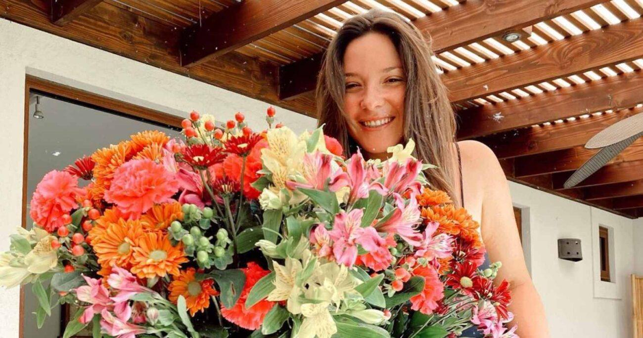 Hernán Calderón le envió un enorme ramo de flores a su hija para su cumpleaños número 30. (Instagram).
