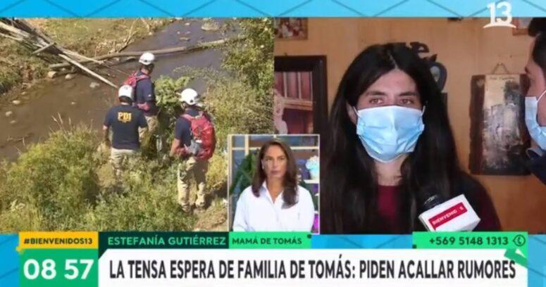 """Madre de Tomás Bravo: """"Recibí una amenaza de que van a matar a mi tío"""""""