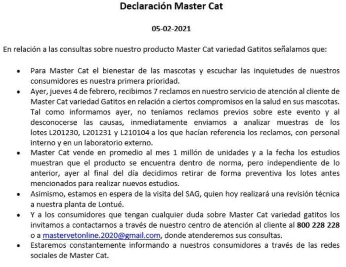 SAG Master Cat