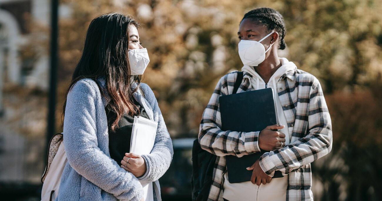 Estudiantes universitarias en pandemia. Imagen Pexels