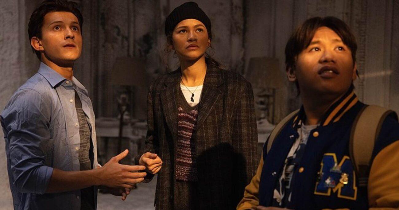 Tom Holland, Zendaya y Jacob Batalon en una de las escenas de la nueva película. (Instagram).