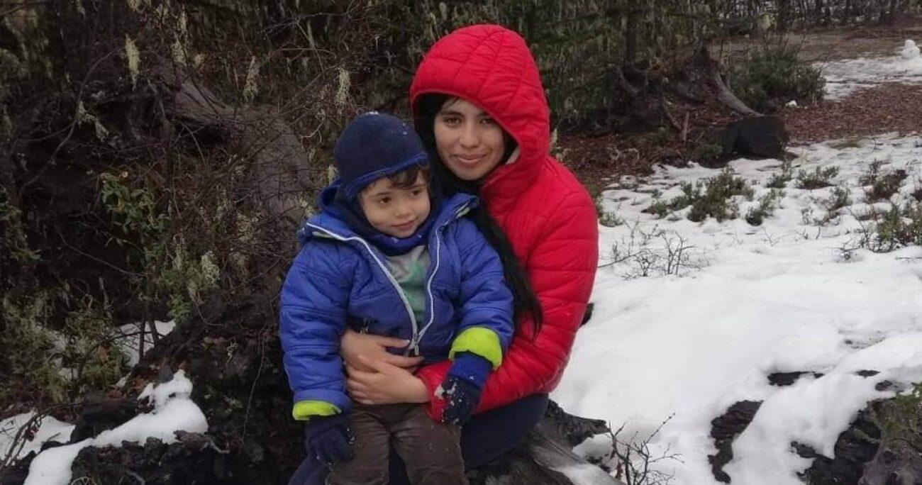 Estefanía Gutiérrez en una de las imágenes que aparece junto a Tomás y que fue publicada en redes sociales.