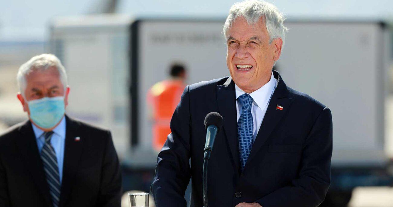 El Presidente Sebastián Piñera mantiene su nivel de aprobación en 24% a pesar del exitoso plan de vacunación (Agencia UNO/Archivo)
