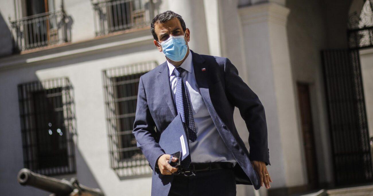 Rodrigo Delgado, ministro del Interior, participa del primer comité político presencial de 2021 tras mese suspendido por pandemia. (Agencia UNO/Archivo)