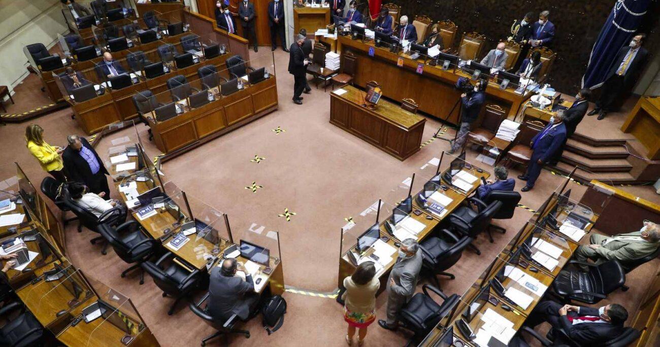 Los senadores apoyaron la medida con 27 votos favorables, 8 en contra y 8 abstenciones. Foto: Agencia UNO