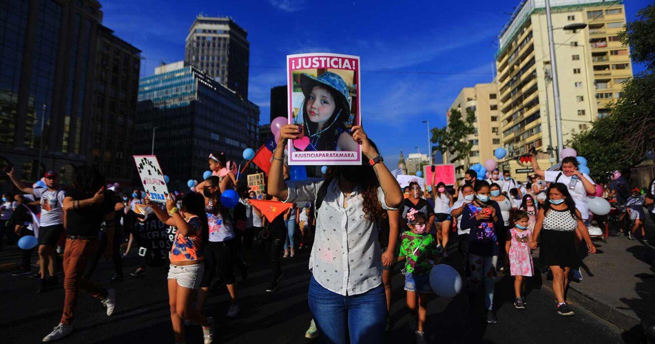 El asesinato de Tamara Moya causó indignación y provocó protestas para pedir justicia y una modificación a la ley de armas. FOTO AGENCIA UNO/ARCHIVO