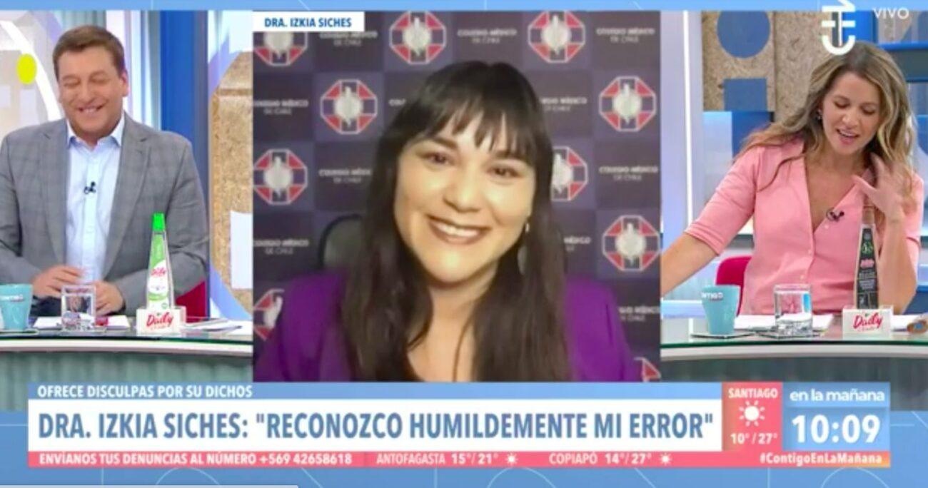 Izkia Siches habló de sus dichos contra el Gobierno en Contigo en la Mañana. (Captura de pantalla).
