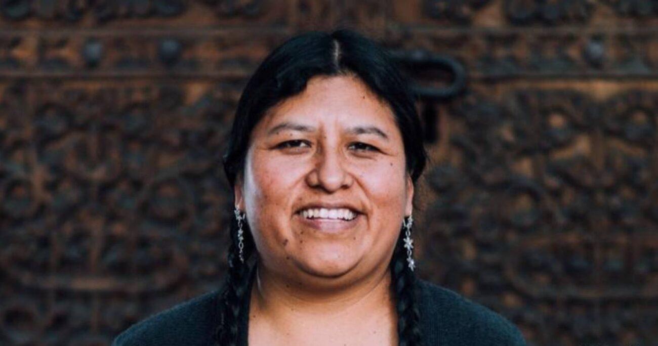 Elvira Espejo Ayca es Directora delMuseo Nacional de Etnografía y Folklore en La Paz. (Foto: @evoespueblo)