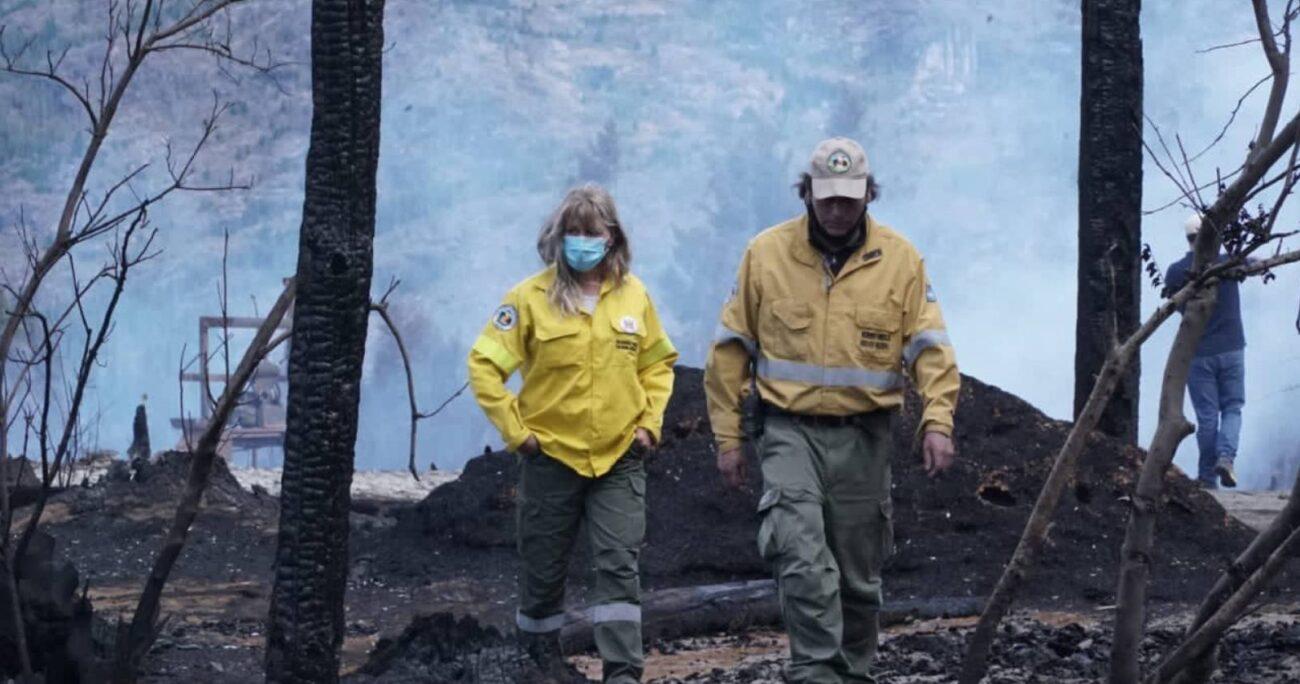 En la noche del jueves, se confirmó el hallazgo de un cuerpo calcinado en la provincia de Chubut en la Patagonia.  (Foto: Ministro de Ambiente Argentina)