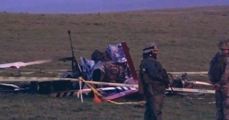 Helicóptero militar que trasladaba vacunas Pfizer se precipitó a tierra en Uruguay