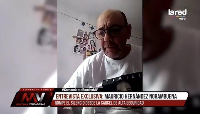 """""""Justicia reitera rechazo a sancionar a Hernández Norambuena por entrevista en TV"""""""