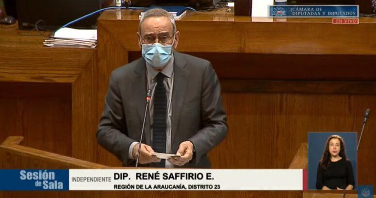 """""""La protesta de RN contra el diputado René Saffirio:"""