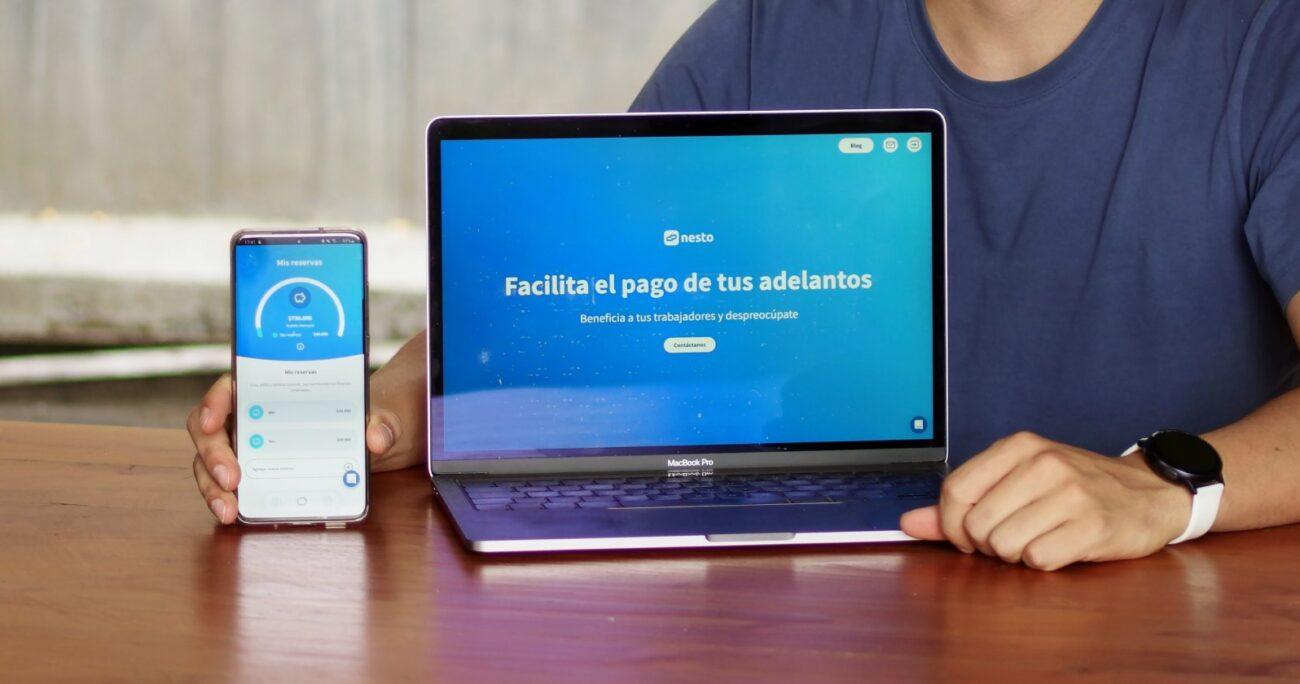 Nesto, plataforma de gestión que permite pagar diariamente el sueldo a los trabajadores. (Nesto)