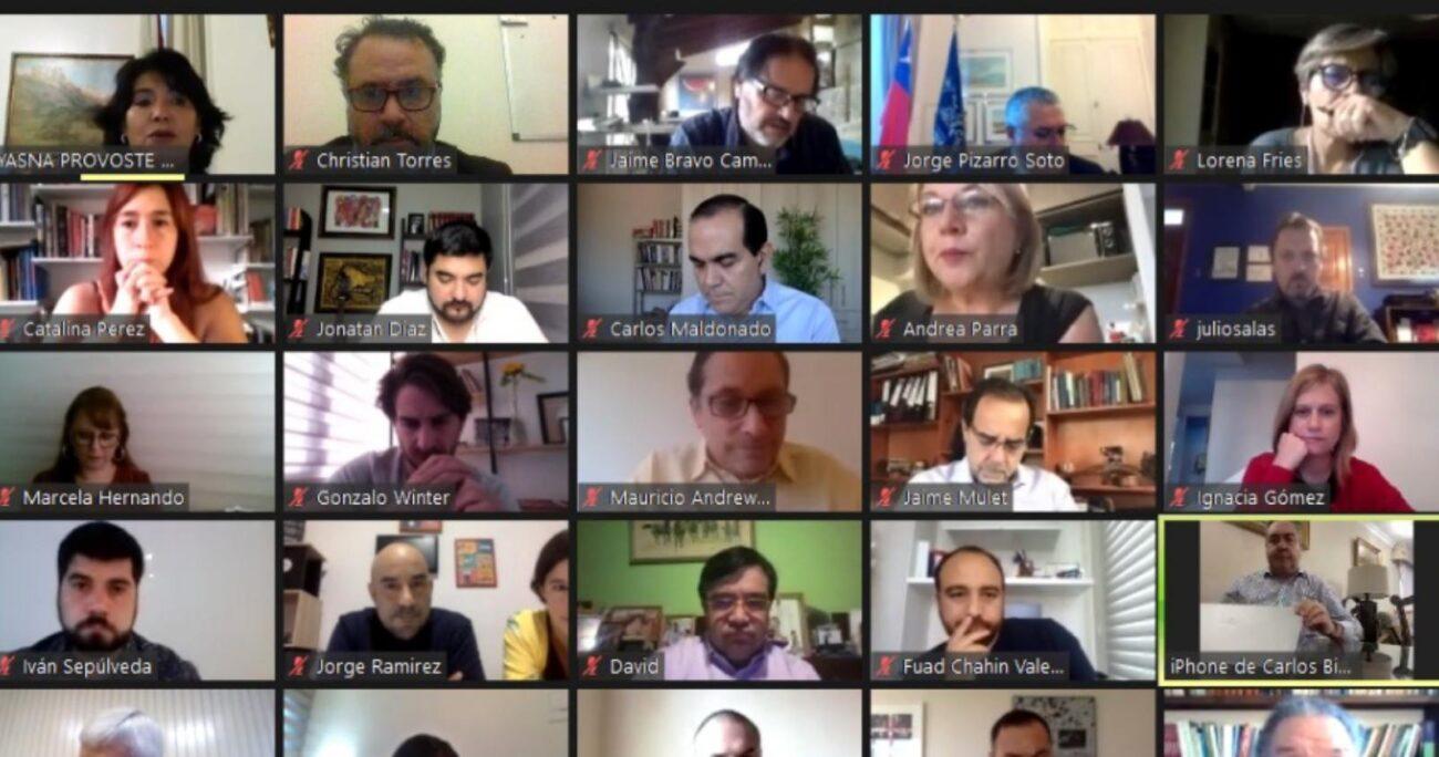 La Mesa del Senado se reunió con toda la oposición. (Captura de pantalla)