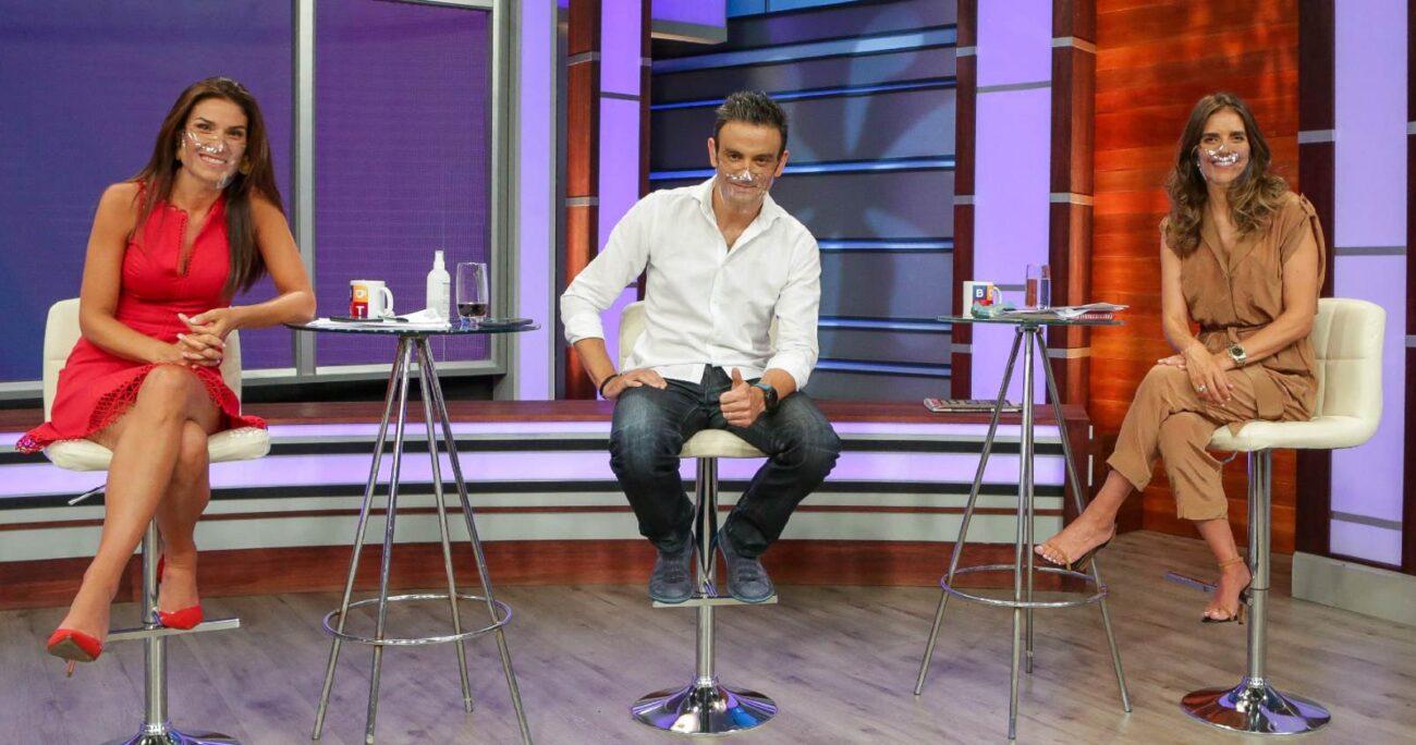 Carolina Escobar, Gonzalo Ramírez y María Luisa Godoy conducen el matinal de TVN. (TVN).