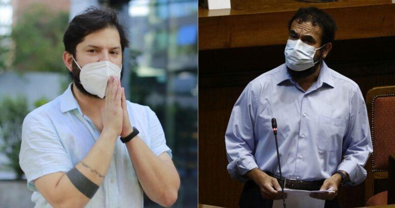 """""""¡Yapos, más seriedad!"""": Boric arremete contra Hugo Gutiérrez por publicar conspiraciones de la pandemia"""