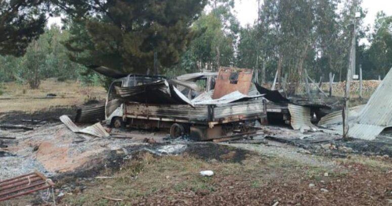 Detienen a dos acusados de participar en quema de camiones en La Araucanía