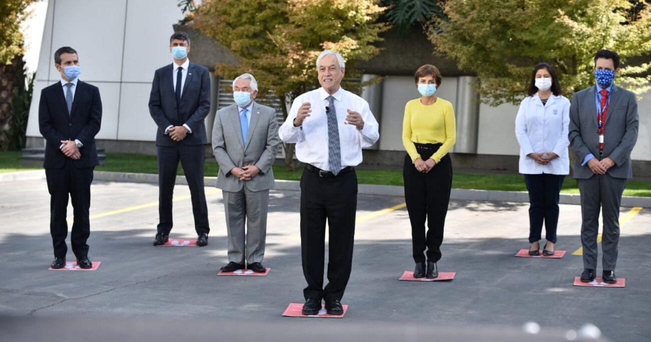 El mandatario durante el anuncio de la nueva vacuna. (Min. de Ciencia)