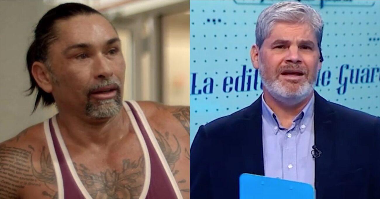 Toda la polémica comenzó por la crítica de Ríos al nuevo libro de Guarello. (Canal 13/Captura de pantalla).