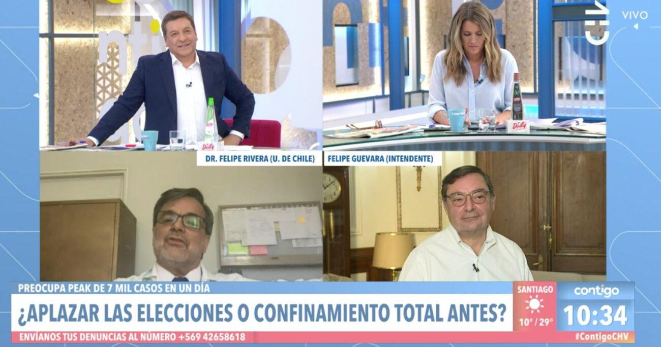 En el debate también estuvo el doctor Felipe Rivera. (Captura de pantalla/CHV).