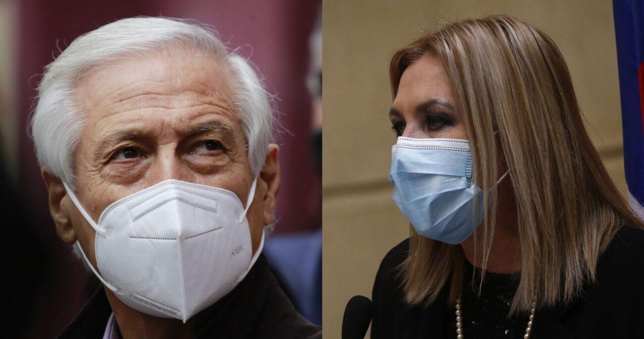 El ex canciller se enfrentó con la presidenciable humanista. (Agencia UNO/Archivo)