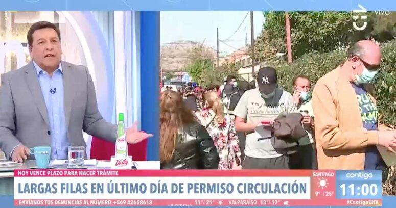 """VIDEO – """"La variante Piñera"""": el descargo de Julio César Rodríguez por aglomeraciones para pagar permiso de circulación"""