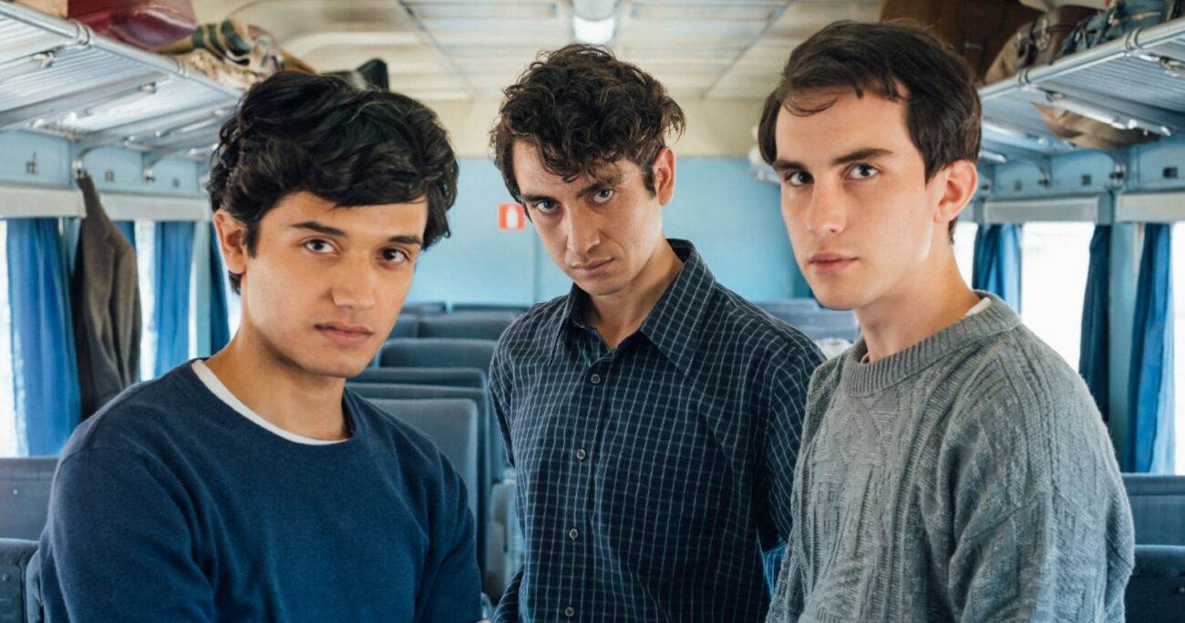 Andre Bargsted, Aron Hernández y Diego Madrigal interpretarán a la banda sanmiguelina. (@ArayaCorvalán)