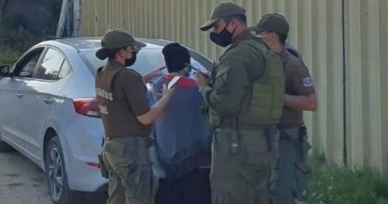 El desalojo se produjo la tarde de ayer, pasadas las 18 horas, en el sector de Paso Hondo, en Quilpué. (Foto: @sitiodelsuceso)