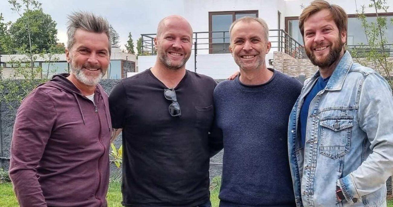 """Aníbal """"Cucho"""" Sánchez, el segundo de derecha a izquierda, hace más de un año que batalla contra un cáncer. (Instagram)."""