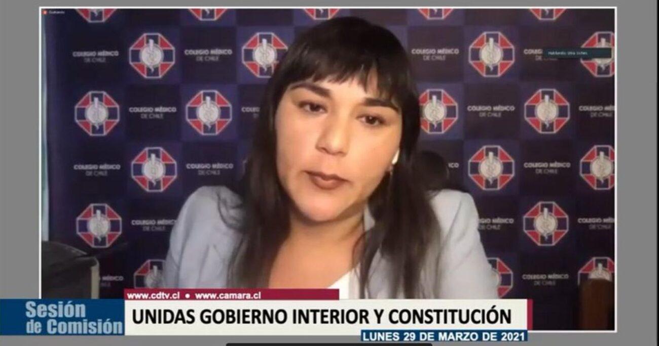 Siches durante la sesión de la comisiones de Gobierno Interior y Constitución. (Captura de pantalla/Cámara de Diputados)