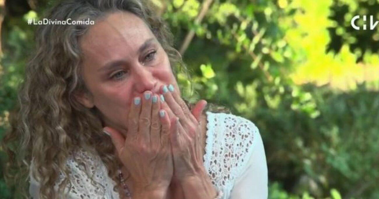 La actriz mientras hablaba de su colega. (Captura de pantalla/CHV)