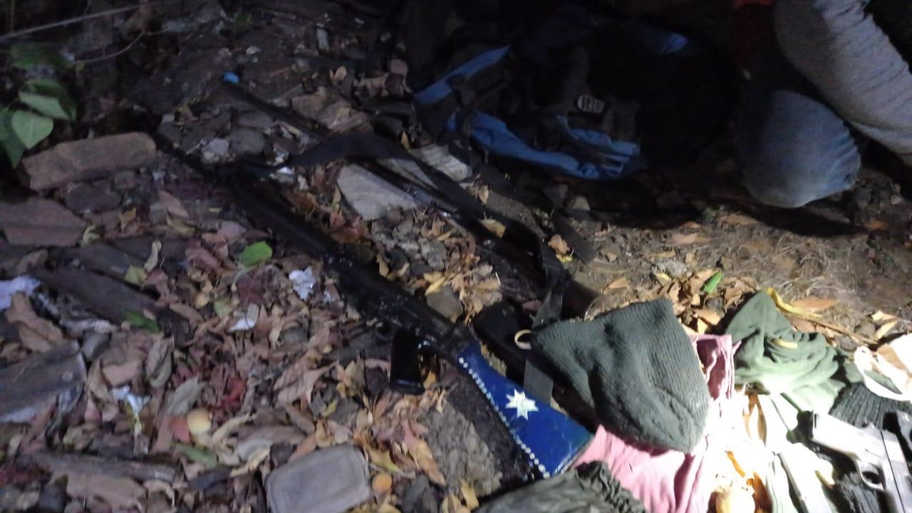 El fusil hallado estaba al interior de una mochila que Juan Pablo Pirce lanzó a una vivienda contigua