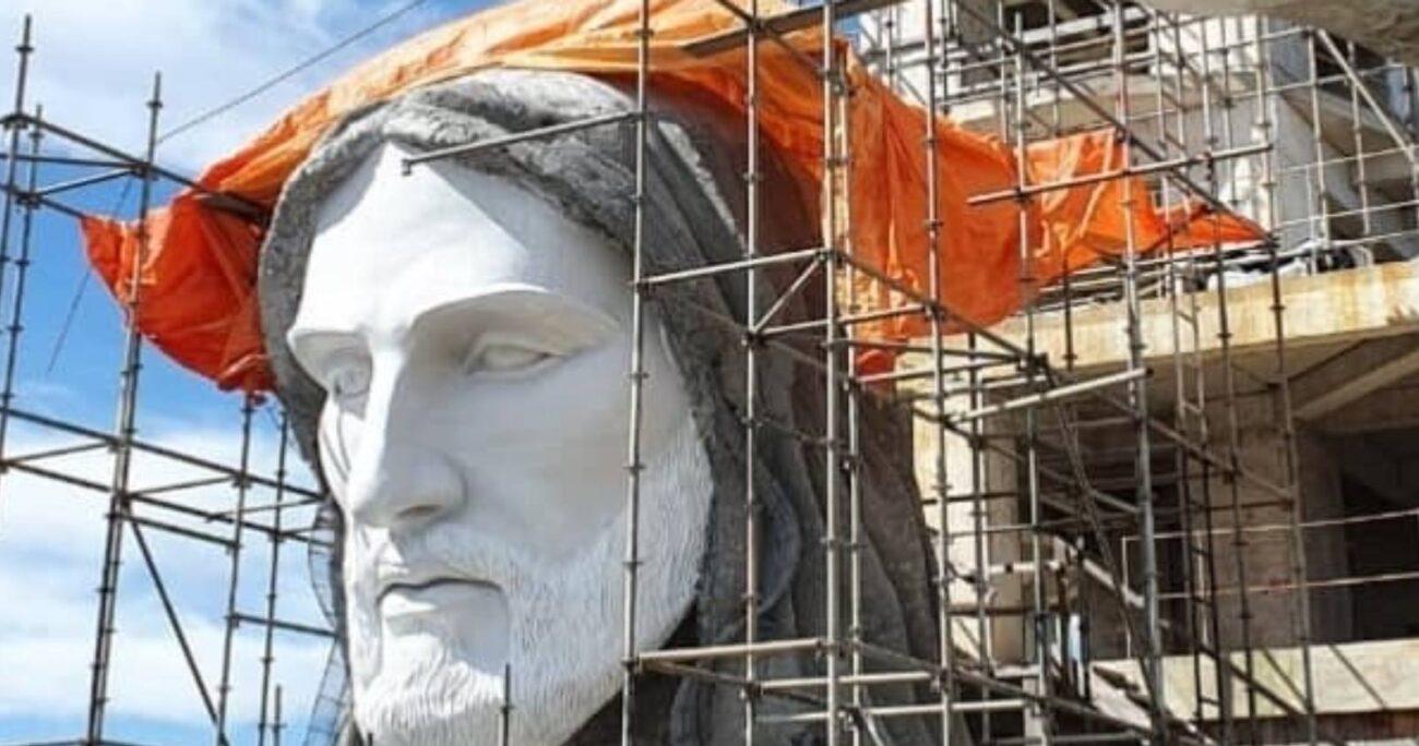 La estatua se está construyendo sobre una colina de la pequeña ciudad de Encantado, en Río Grande del Sur. EUROPA PRESS
