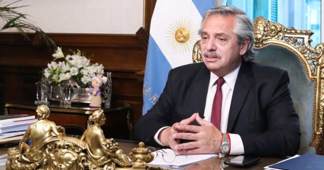 Alberto Fernández habló anoche en cadena nacional para anunciar las medidas. El Presidente se recupera de COVID-19. AGENCIA UNO/EUROPA PRESS