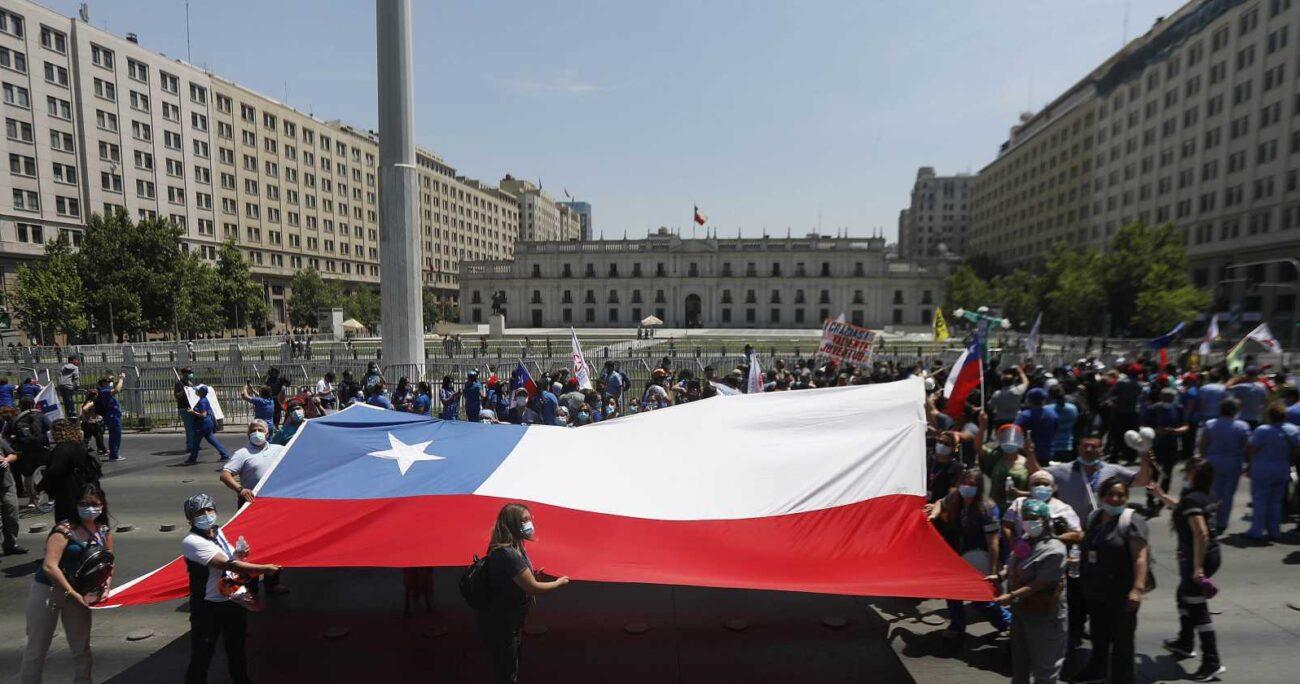 Manifestación de trabajadores de Salud, FENATS, en noviembre de 2020. AGENCIA UNO/ARCHIVO.