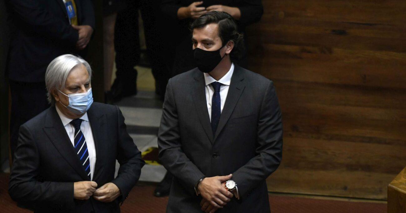 Labbé Martínez en su llegada a la sala de la Cámara de Diputados. AGENCIA UNO/ARCHIVO