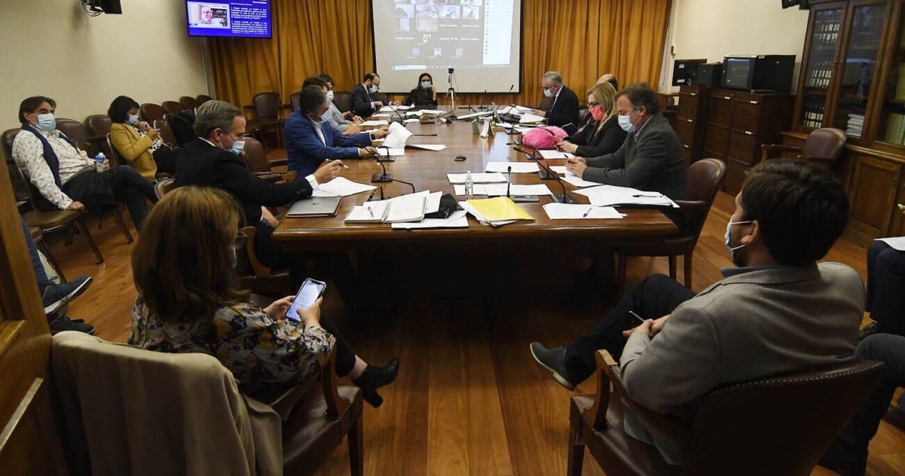 Por su parte, el ministro de la Segpres, Juan José Ossa, hizo reserva de constitucionalidad sobre la indicación. AGENCIA UNO