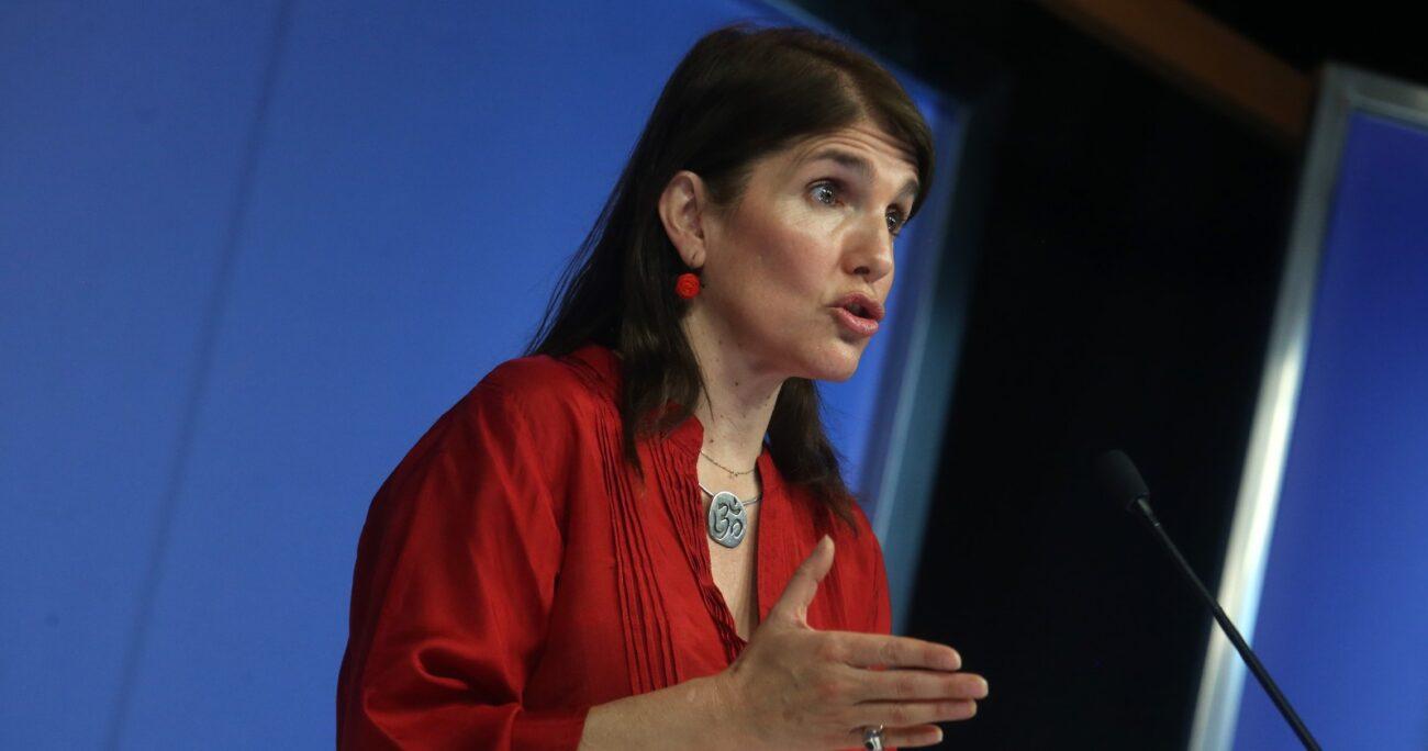 La precandidata presidencial del PS aclaró que la poca conducción del Gobierno ayudó a la popularidad de Pamela Jiles. AGENCIA UNO