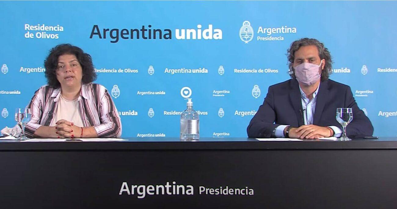 El total de fallecidos por la enfermedad llega a56.634. (Foto: Ministerio de Salud Argentina)