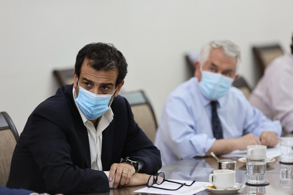 Rodrigo Delgado también dio luces del proceso de vacunación que se desarrollará la próxima semana. MINISTERIO DEL INTERIOR