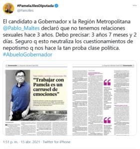 Pamela Jiles Pablo Maltés