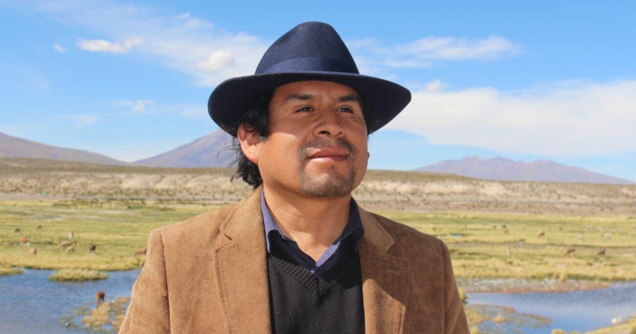 García Choque se quejó públicamente por la participación del candidato en una actividad de la Intendencia. MUNICIPALIDAD DE COLCHANE.
