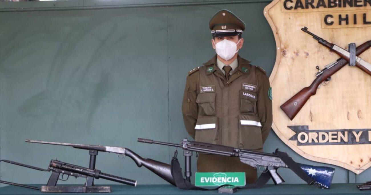 Funcionario del Poder Judicial detenido en Traiguén queda en prisión preventiva tras hallazgo de armamento en su domicilio