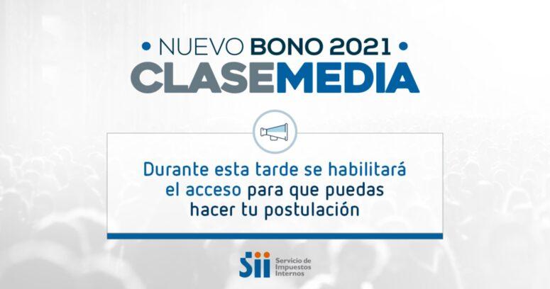 SII informa que durante la tarde estará habilitado sitio para postular a Bono Clase Media