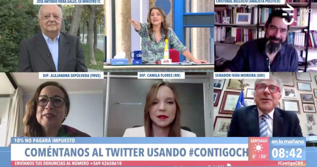 El momento causó risas en el panel político de matinal de Chilevisión.
